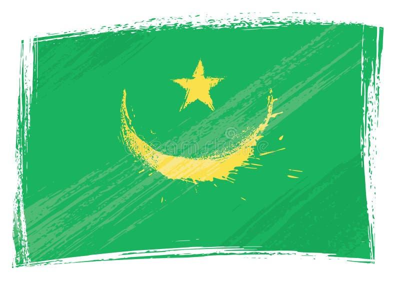 Bandeira de Grunge Mauritânia ilustração stock