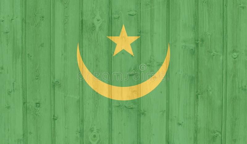 Bandeira de Grunge Maurit?nia ilustração do vetor