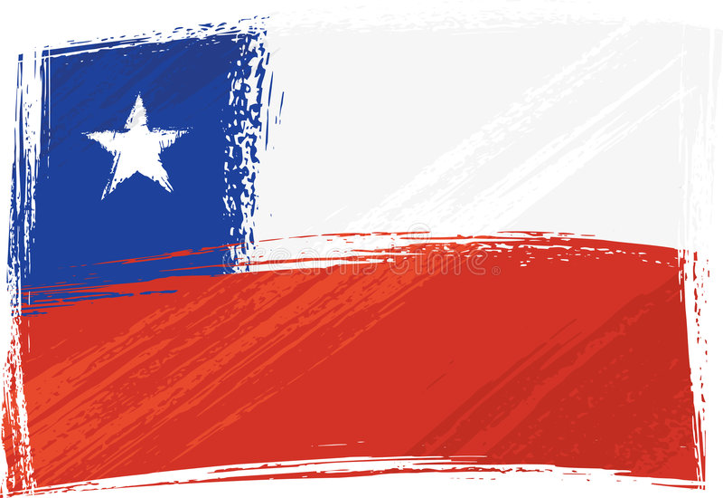 Bandeira de Grunge o Chile ilustração royalty free