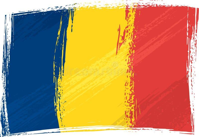 Bandeira de Grunge República do Tchad ilustração stock