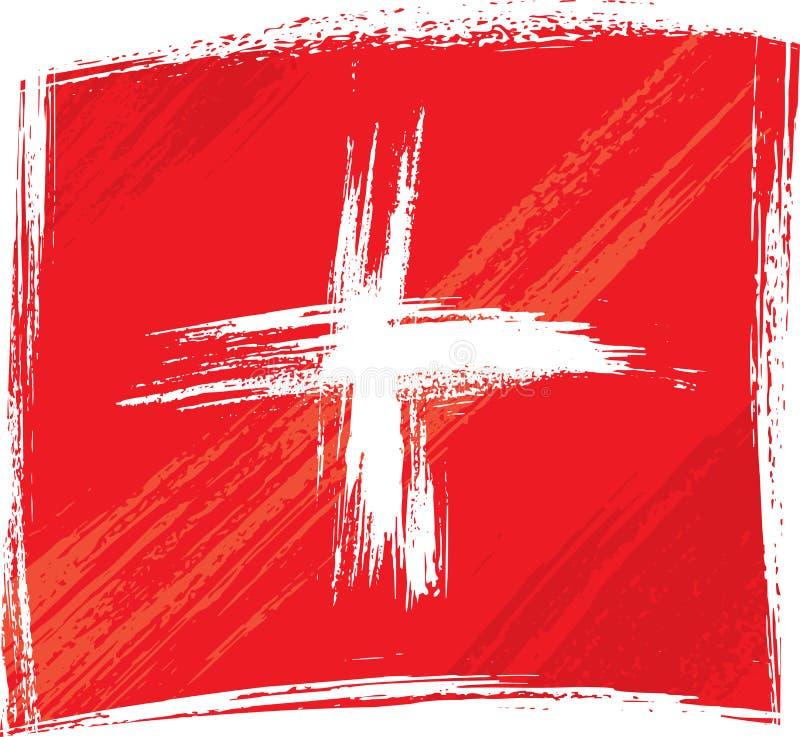 Bandeira de Grunge Switzerland ilustração do vetor