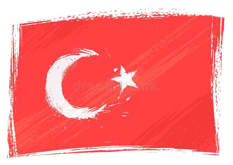 Bandeira de Grunge Turquia ilustração royalty free
