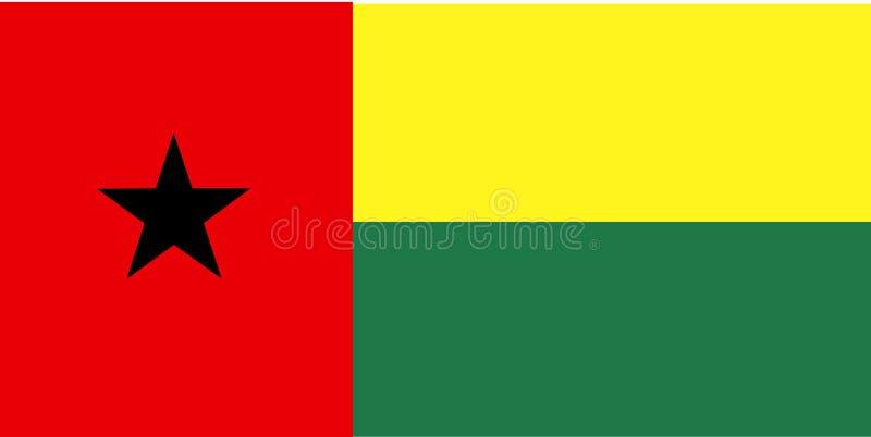 Bandeira de Guiné-Bissau ilustração royalty free