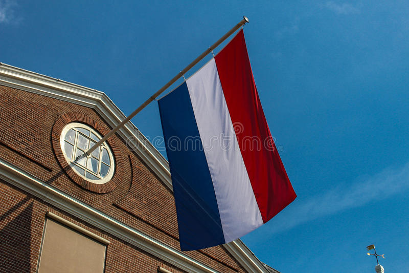 Bandeira de holland, holland, Amsterdão foto de stock royalty free