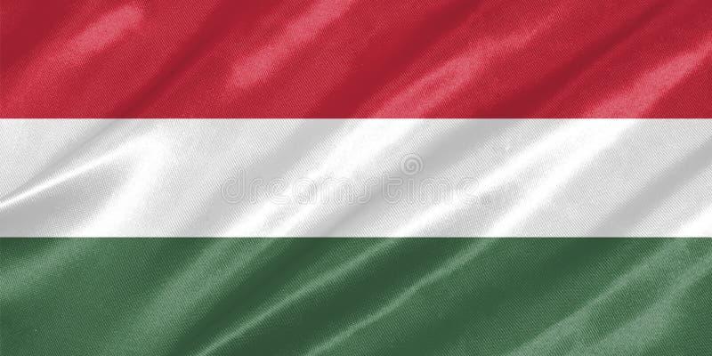 Bandeira de Hungria ilustração do vetor