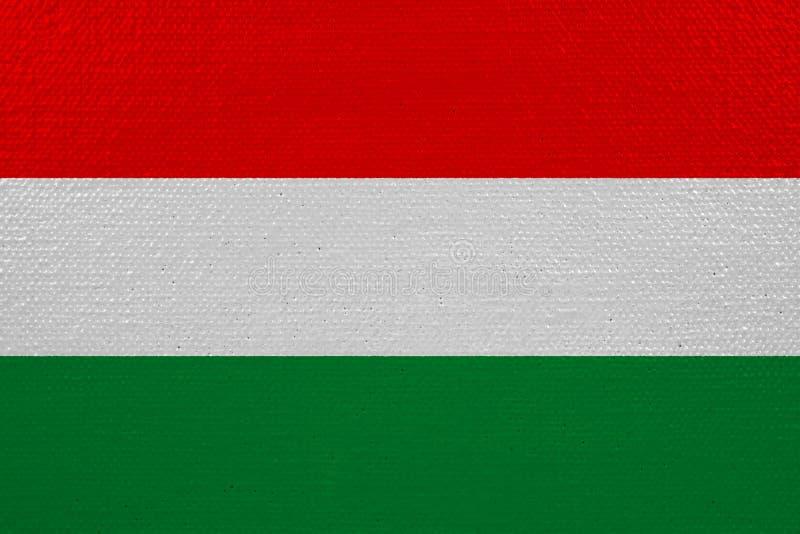 Bandeira de Hungria na lona ilustração stock