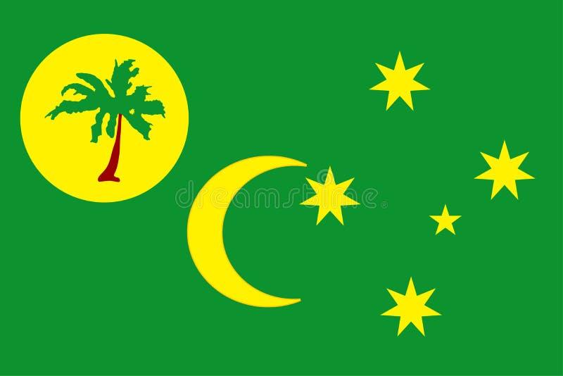 Bandeira de ilhas de cocos ilustração royalty free