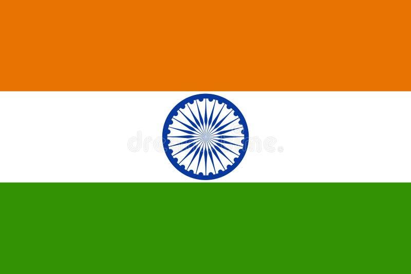 Bandeira de India ilustração royalty free