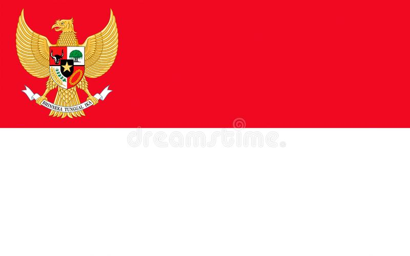 Bandeira de Indonésia ilustração do vetor