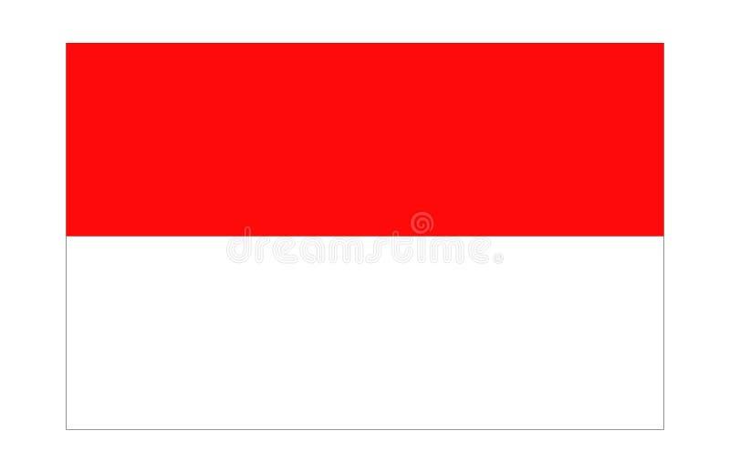 Bandeira de Indonésia/Monaco ilustração do vetor
