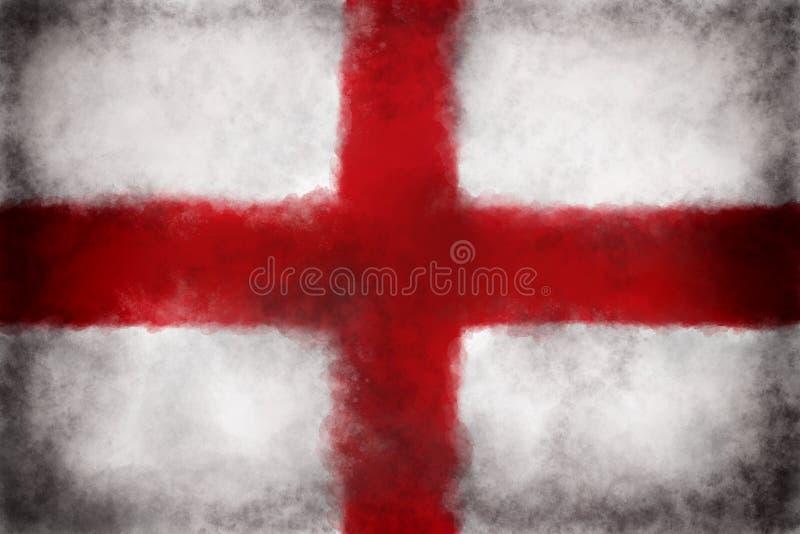 Bandeira de Inglaterra ilustração stock