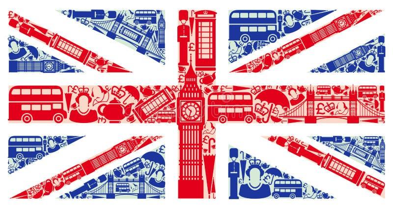 Bandeira de Inglaterra ilustração do vetor