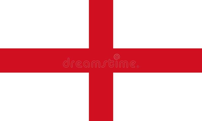 Bandeira de Inglaterra Ilustração da cruz 3D do ` s de St George ilustração do vetor