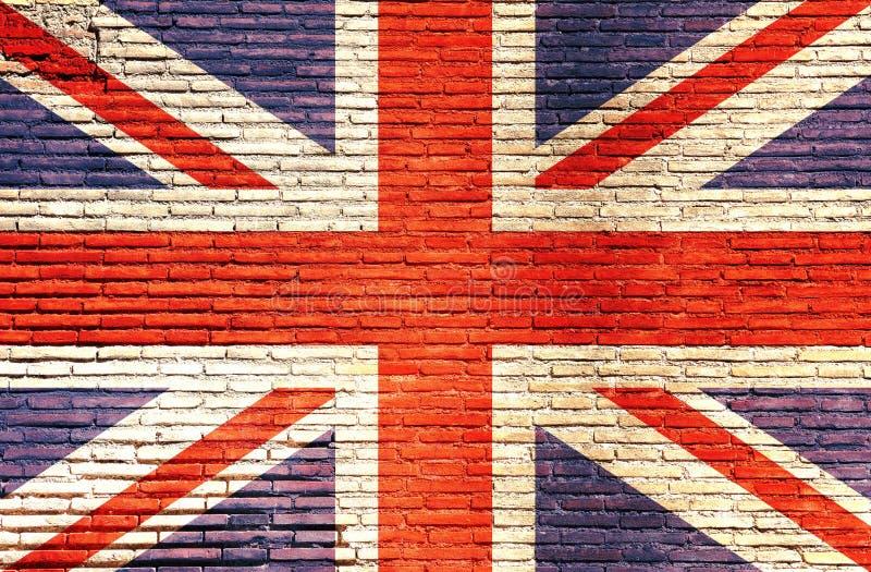 Bandeira de Inglaterra pintada em uma parede de tijolo ilustração 3D foto de stock