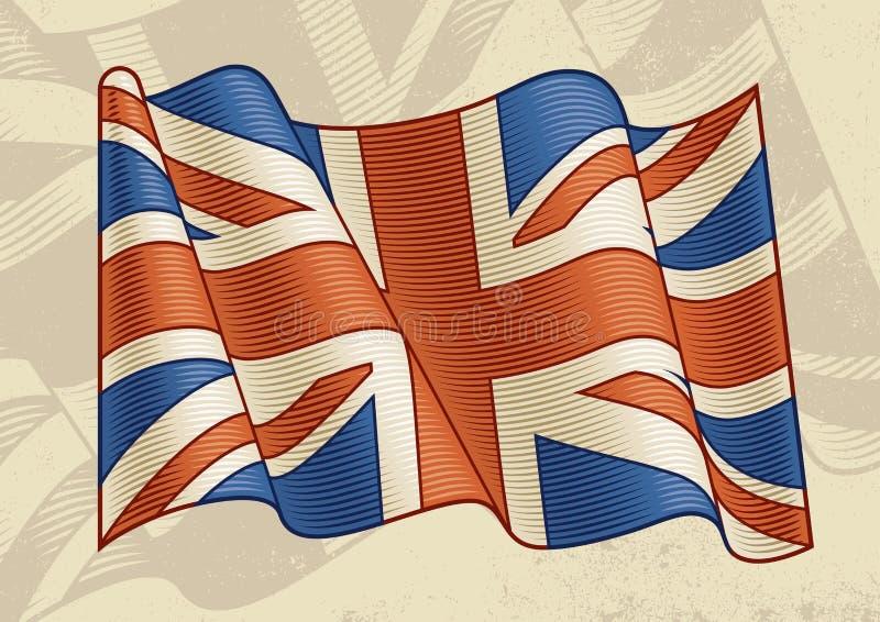 Bandeira de Ingleses do vintage ilustração stock