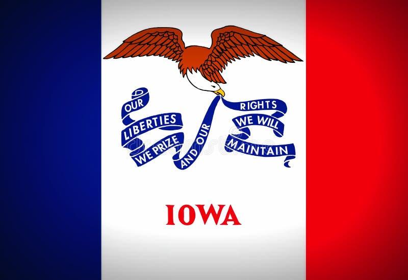 Bandeira de Iowa - U S A foto de stock royalty free