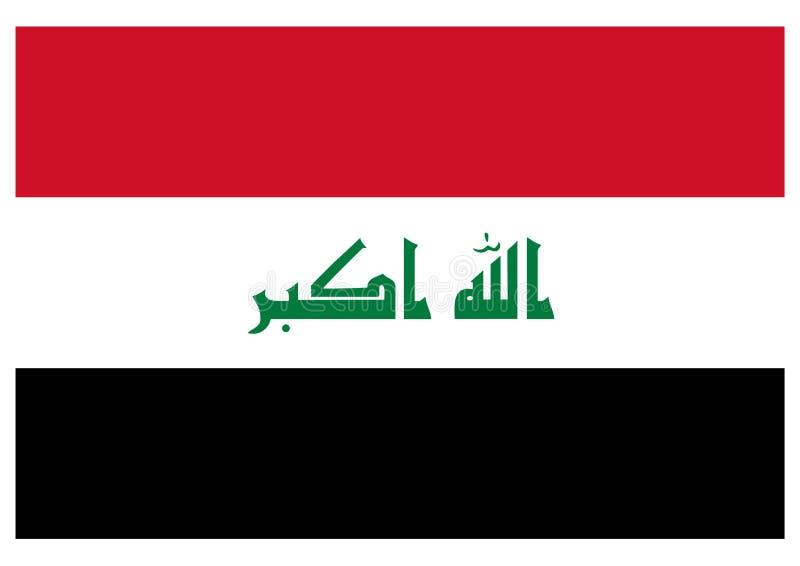 Bandeira de Iraque ilustração royalty free