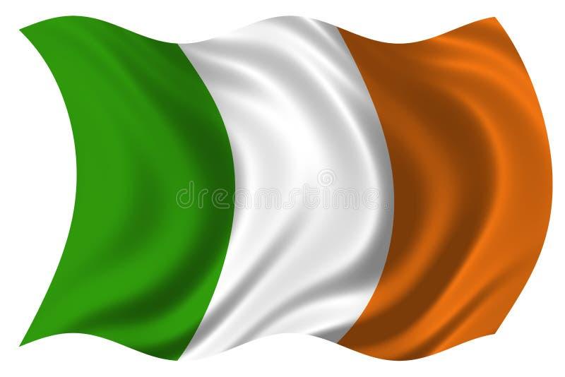 A bandeira de Ireland isolou-se ilustração royalty free
