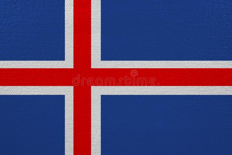 Bandeira de Islândia na lona ilustração royalty free