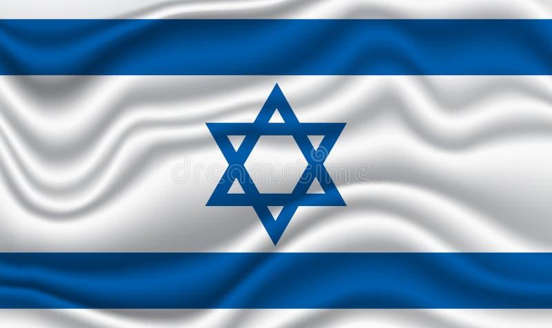 Bandeira de Israel ilustração do vetor