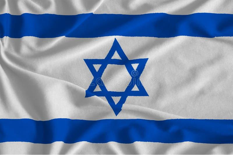 a bandeira de Israel ilustração stock