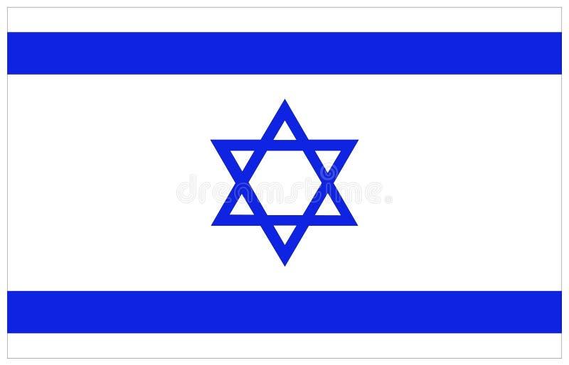 Bandeira de Israel ilustração stock