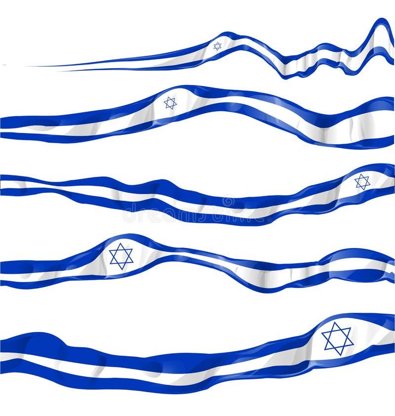 Bandeira de Israel ajustada sobre ilustração stock