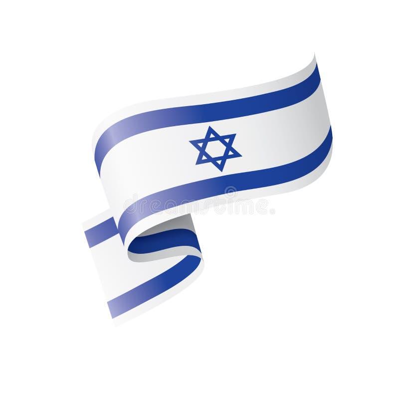 Bandeira de Israel, ilustração do vetor em um fundo branco ilustração stock