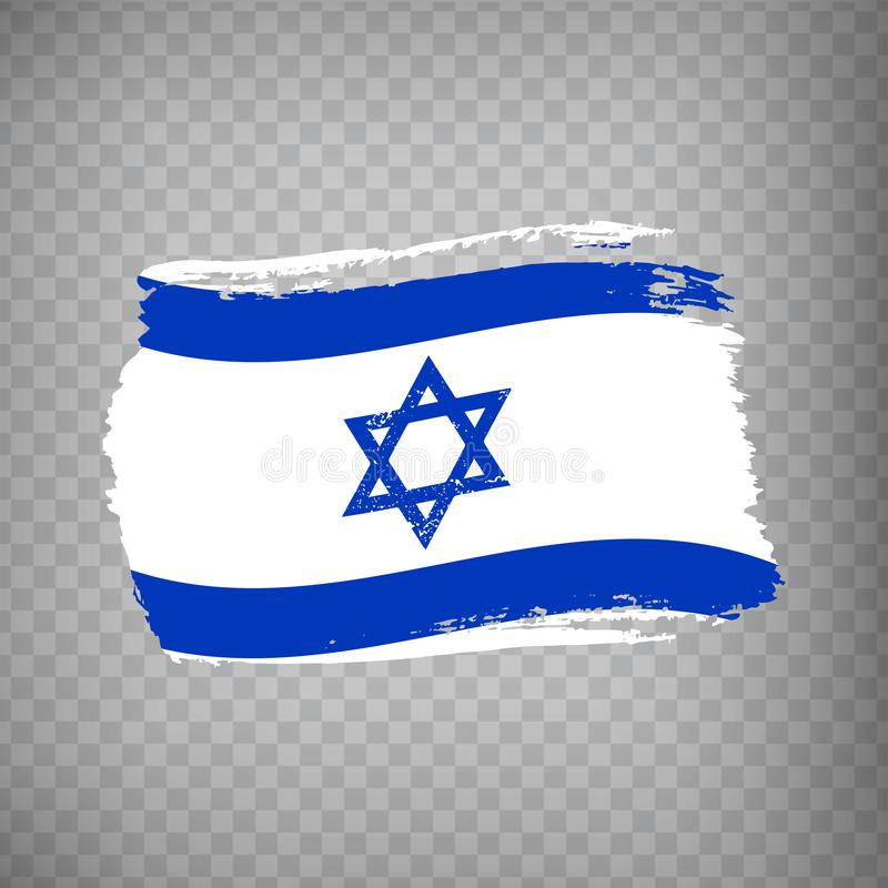 Bandeira de Israel isolada Bandeira de Israel, fundo do curso da escova Bandeira Israel no fundo transparente Estado de bandeira  ilustração royalty free