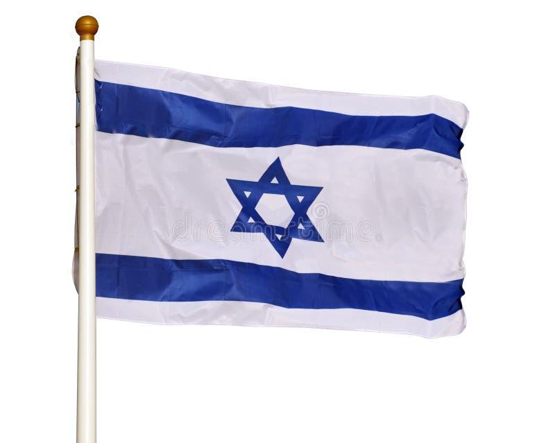A bandeira de Israel isolou-se no fundo branco imagem de stock
