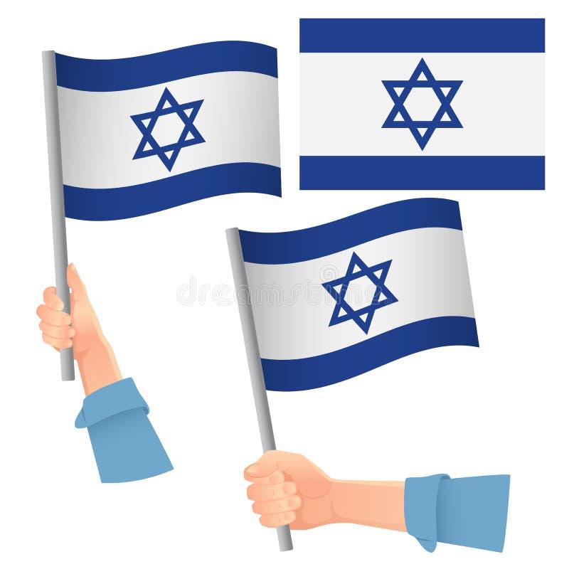 Bandeira de Israel posta à mão ilustração do vetor