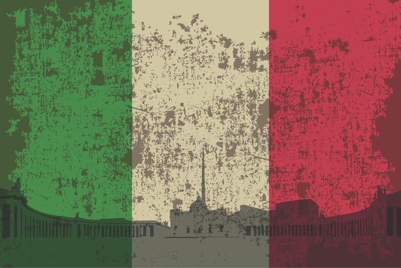 Bandeira de Itália, ilustração royalty free