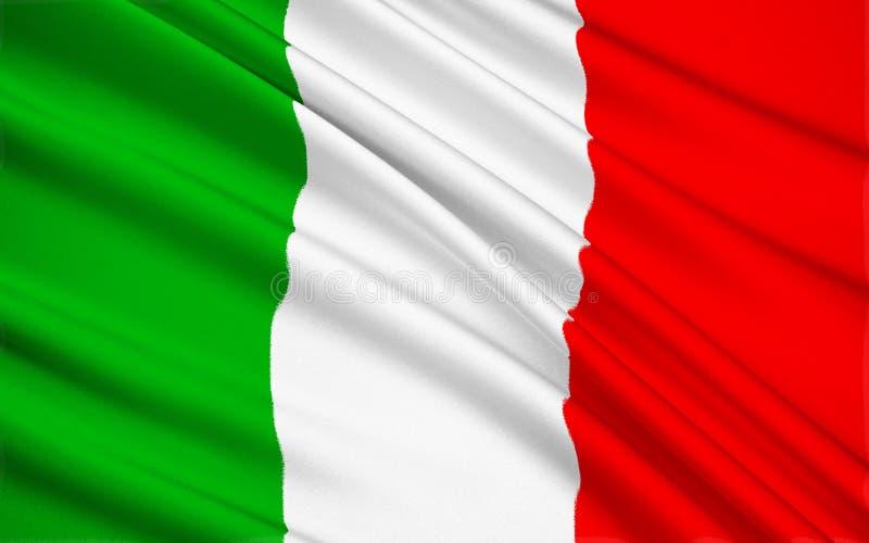 Bandeira de Italy foto de stock royalty free