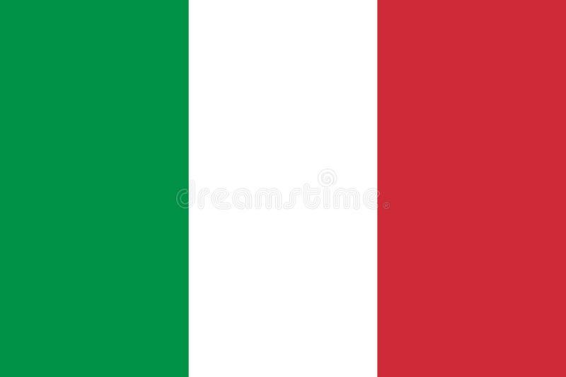 Bandeira de Italy Bandeira italiana ilustração royalty free