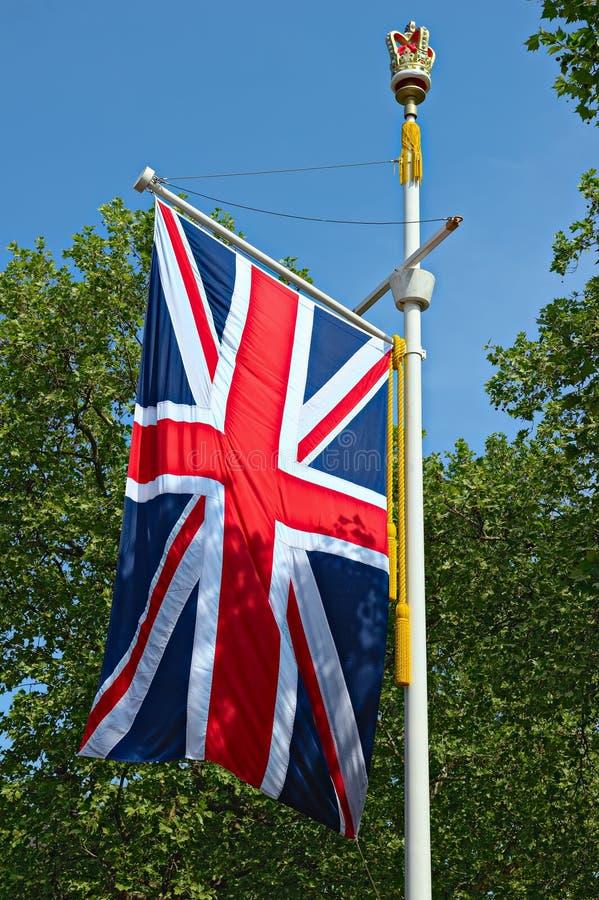 Bandeira de Jack de união, a alameda, Londres, Inglaterra, Reino Unido foto de stock royalty free