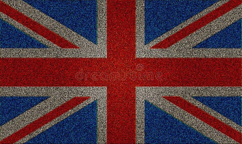 Bandeira De Jack De União Reino Unido Do Efeito Do Glitter Imagem de Stock