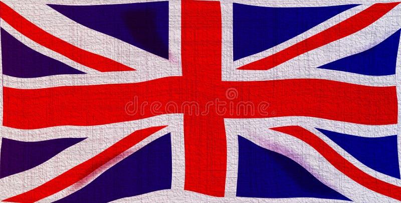 Bandeira de Jack de união de Grunge ilustração do vetor