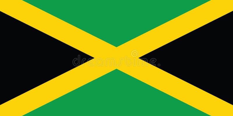 Bandeira de Jamaica ilustração royalty free