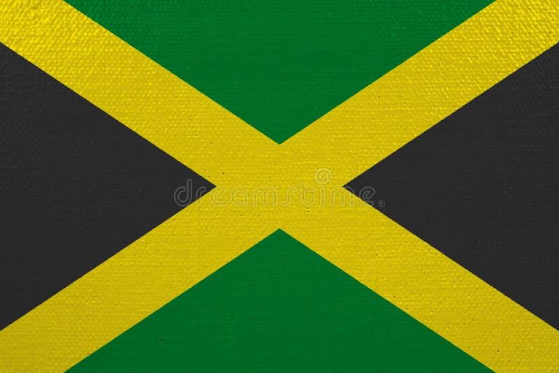Bandeira de Jamaica na lona ilustração stock