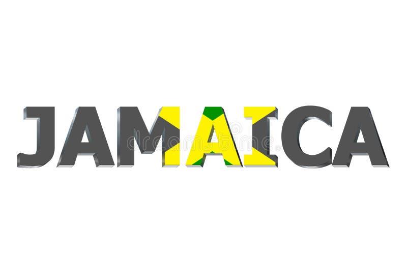Bandeira de Jamaica no texto ilustração royalty free