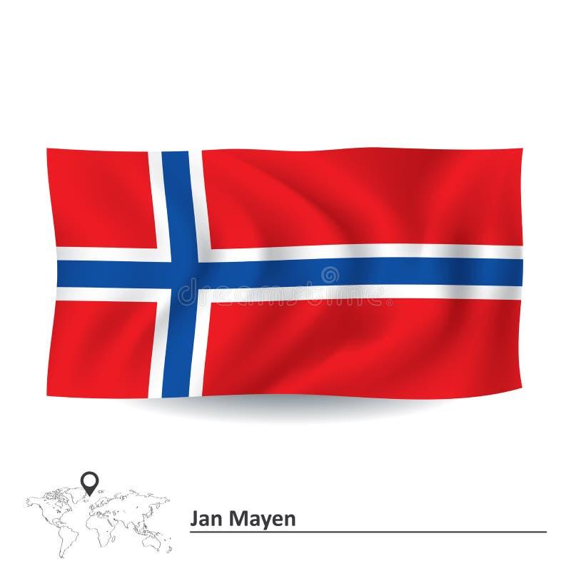 Bandeira de Jan Mayen ilustração stock