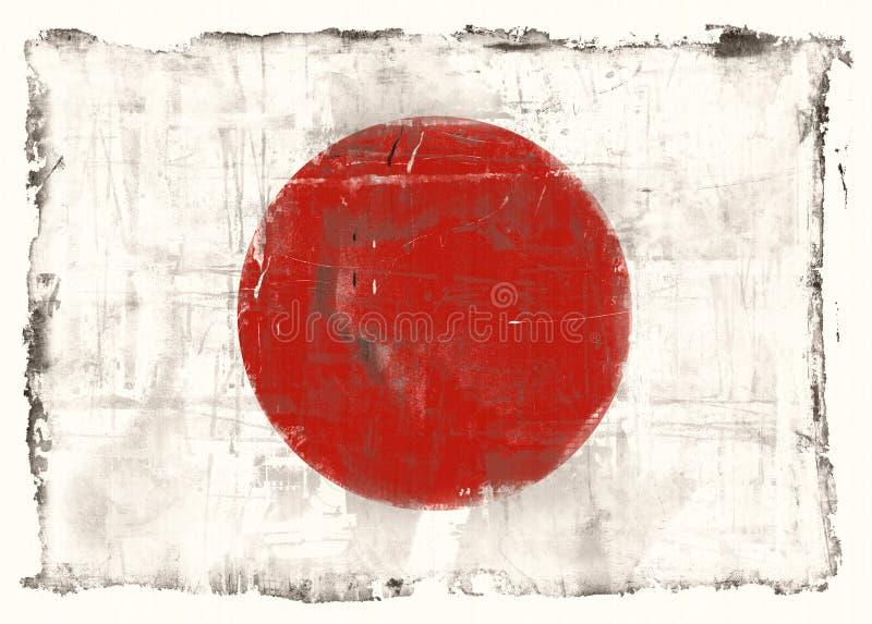 Bandeira de Japão ilustração stock