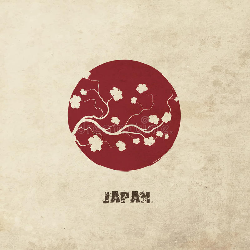 Bandeira de Japão ilustração royalty free