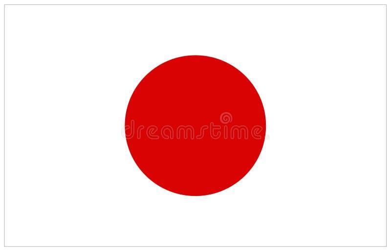 Bandeira de Japão ilustração do vetor