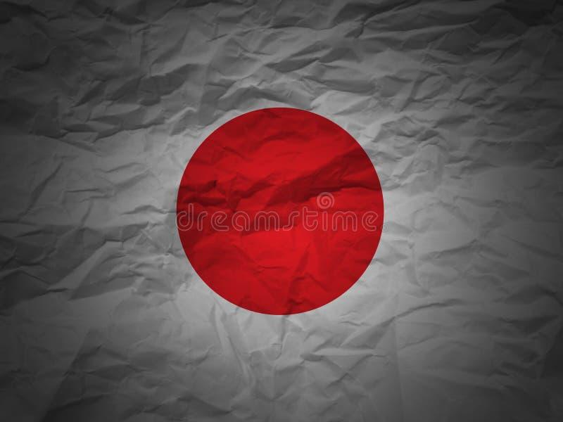Bandeira de Japão do fundo de Grunge ilustração royalty free