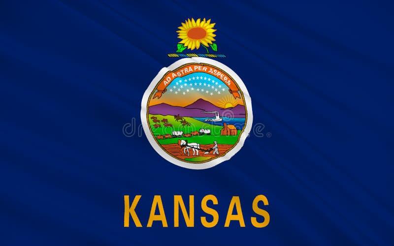 Bandeira de Kansas, EUA imagem de stock royalty free
