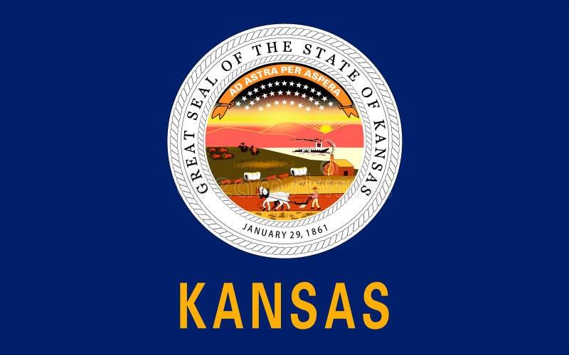 Bandeira de Kansas, EUA fotos de stock royalty free