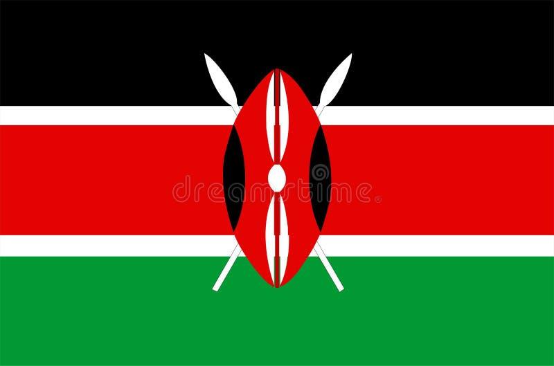 Bandeira de Kenya ilustração royalty free