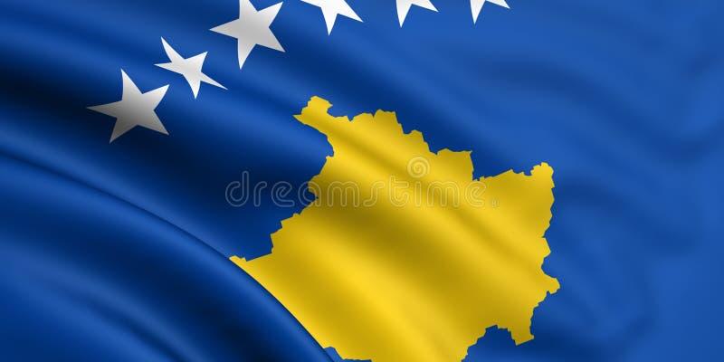 Bandeira de Kosovo ilustração stock