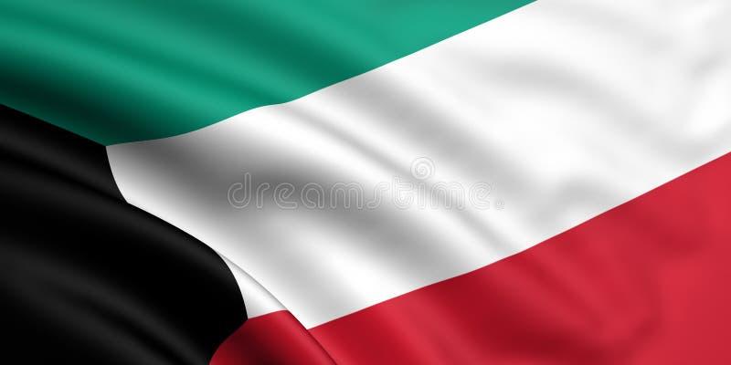 Bandeira de Kuwait ilustração do vetor